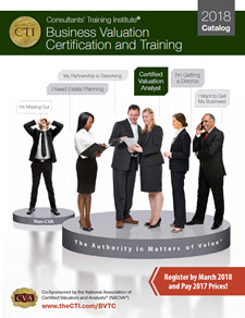 2018 Business Valuation Certification and Training